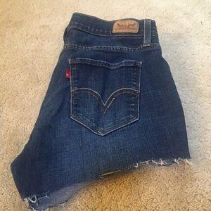 Levi's 529 Cutoff Jean Shorts Distressed Raw Hem